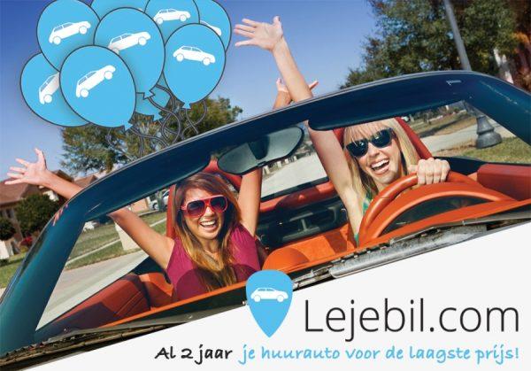 Autoverhuurder Lejebil.com bestaat 2 jaar