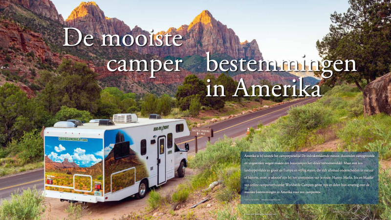 De mooiste camper bestemmingen in Amerika